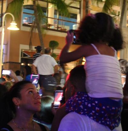 little girl capturing the fireworks